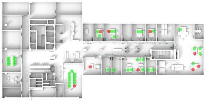 Heatmap zur Arbeitsplatzauslastung by Thing-it