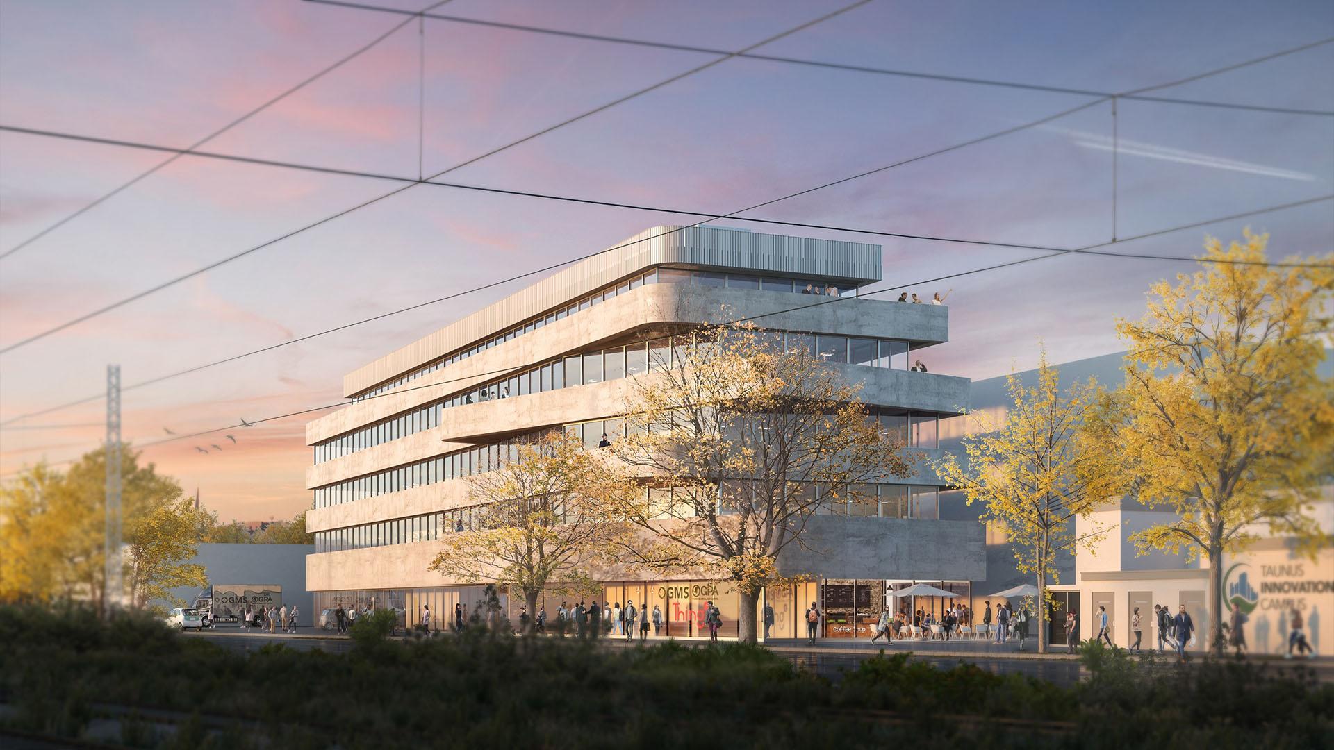 Neuer Hauptsitz in Hattersheim, Entwurf Schneider + Schumacher Architekten