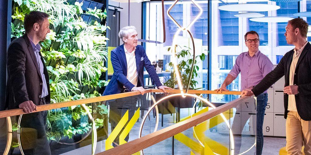 Smart Office Partnerschaft Thing-It Besuch Bei Bene Tobias Enders IoT Anbieter Deutschland Frankfurt